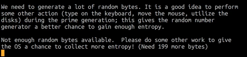 Random Bytes Entropy